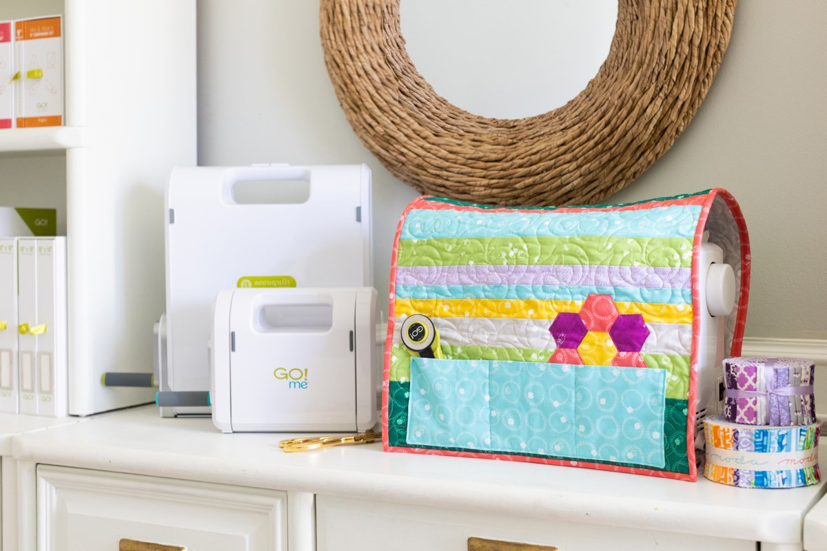 Sewing Room Spruce Up - PQ11829 GO! Bloom Easy Sewing Machine Cover-Spring