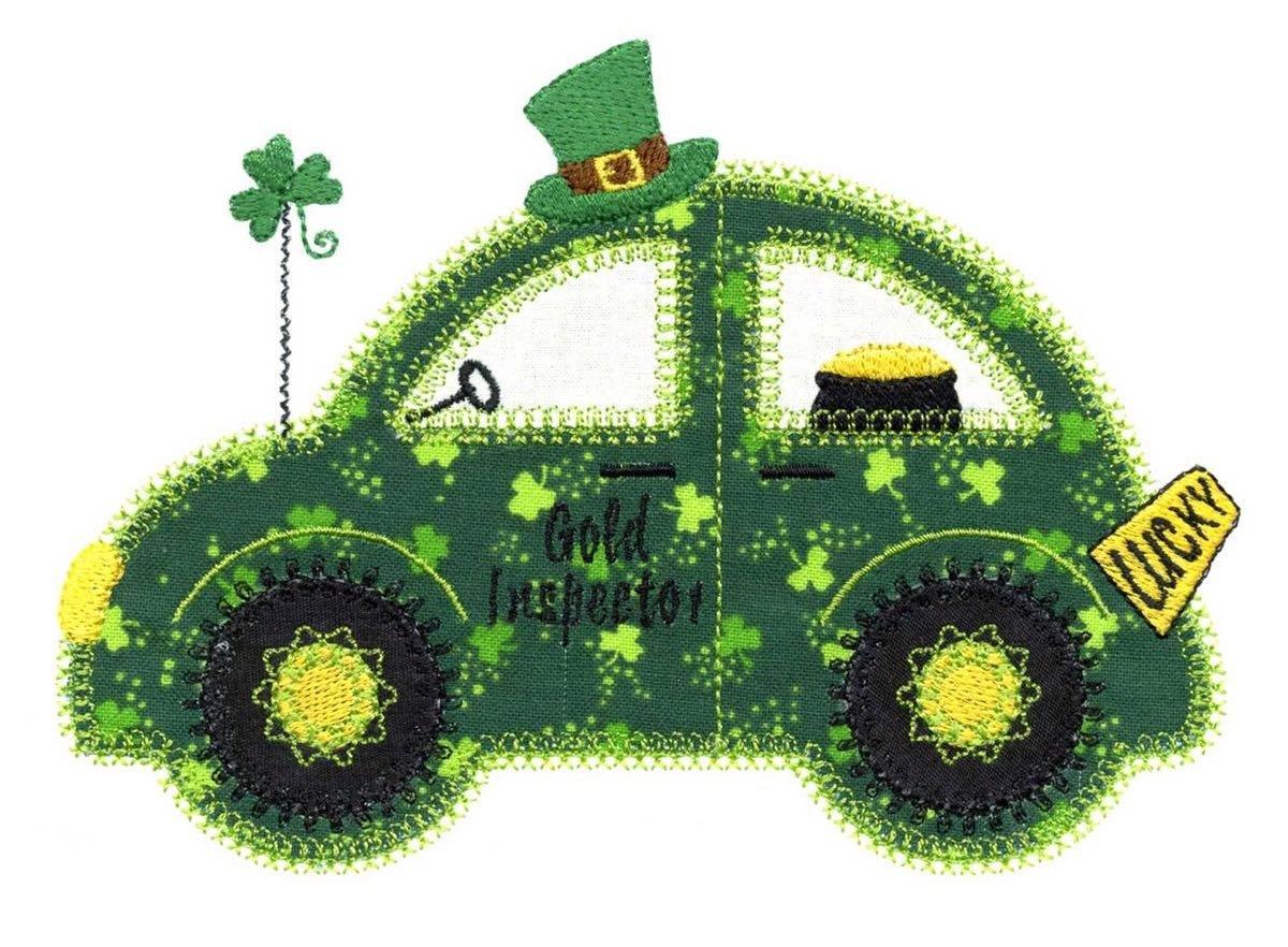 St-Patricks-Quilts-VQ-SCC Shamrock-Cute-Car-1