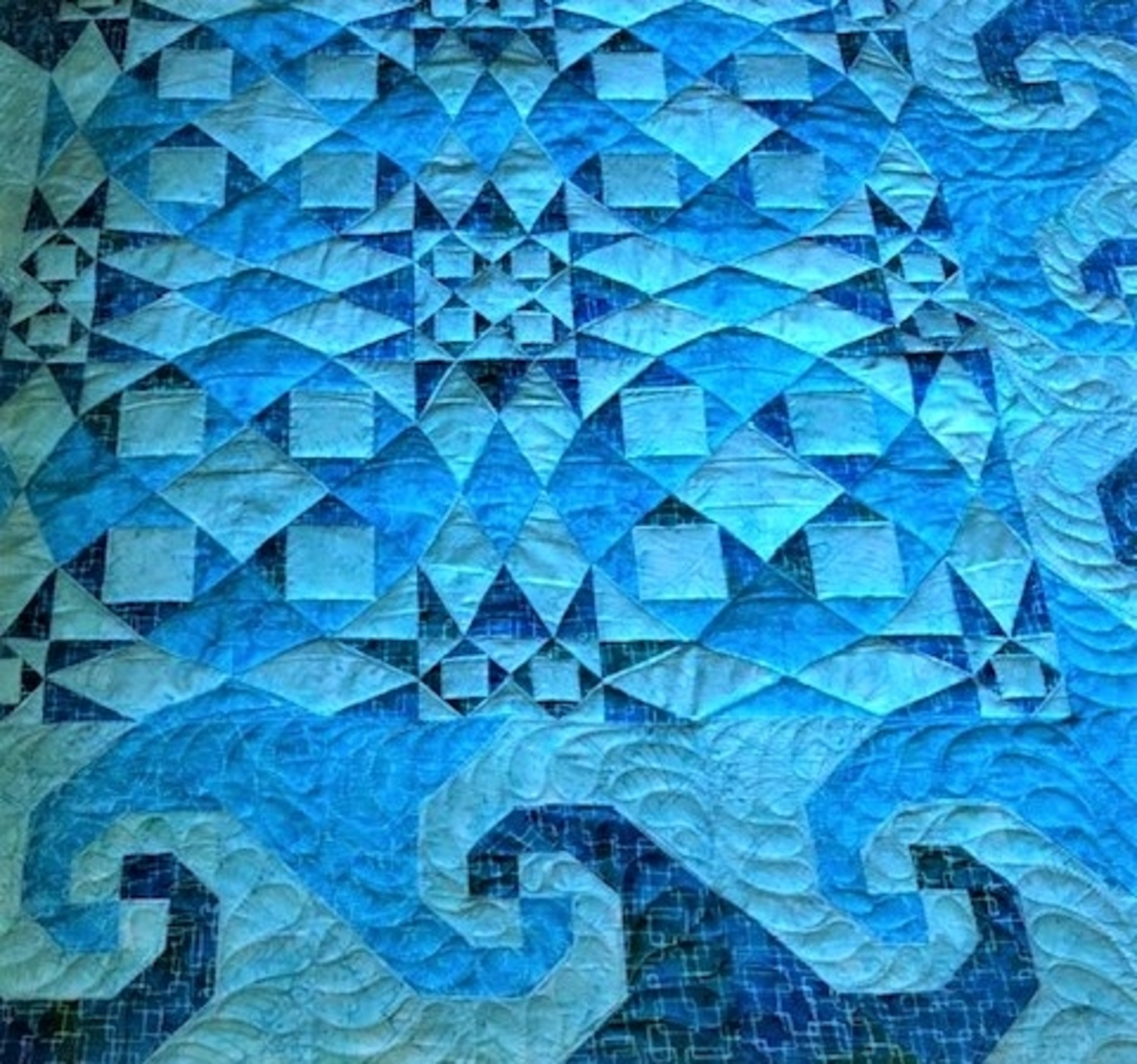 Storm at Sea quilting detail