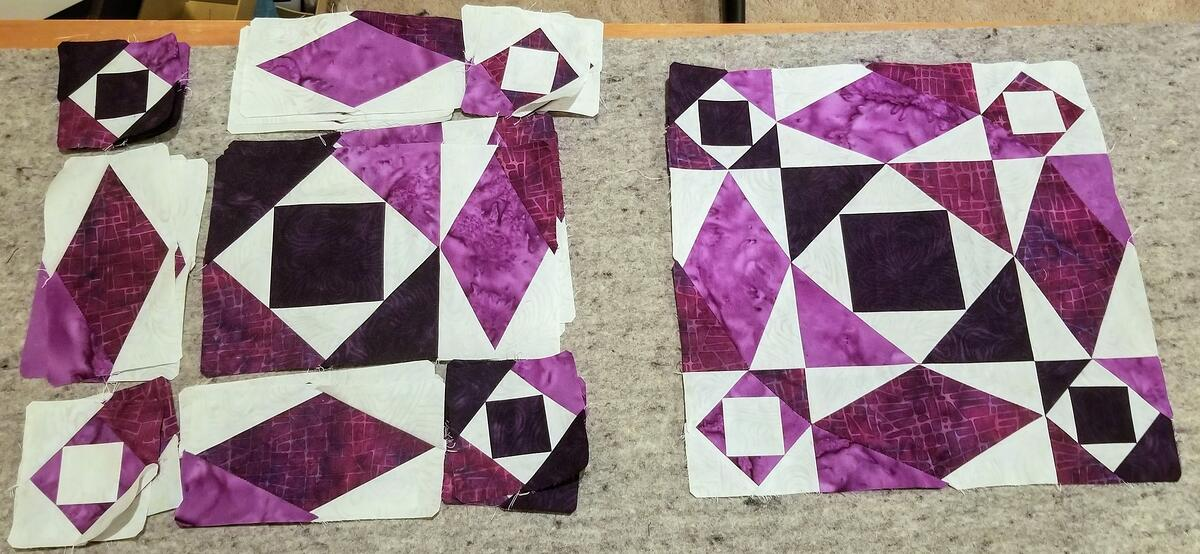 Partial block layout and completed block