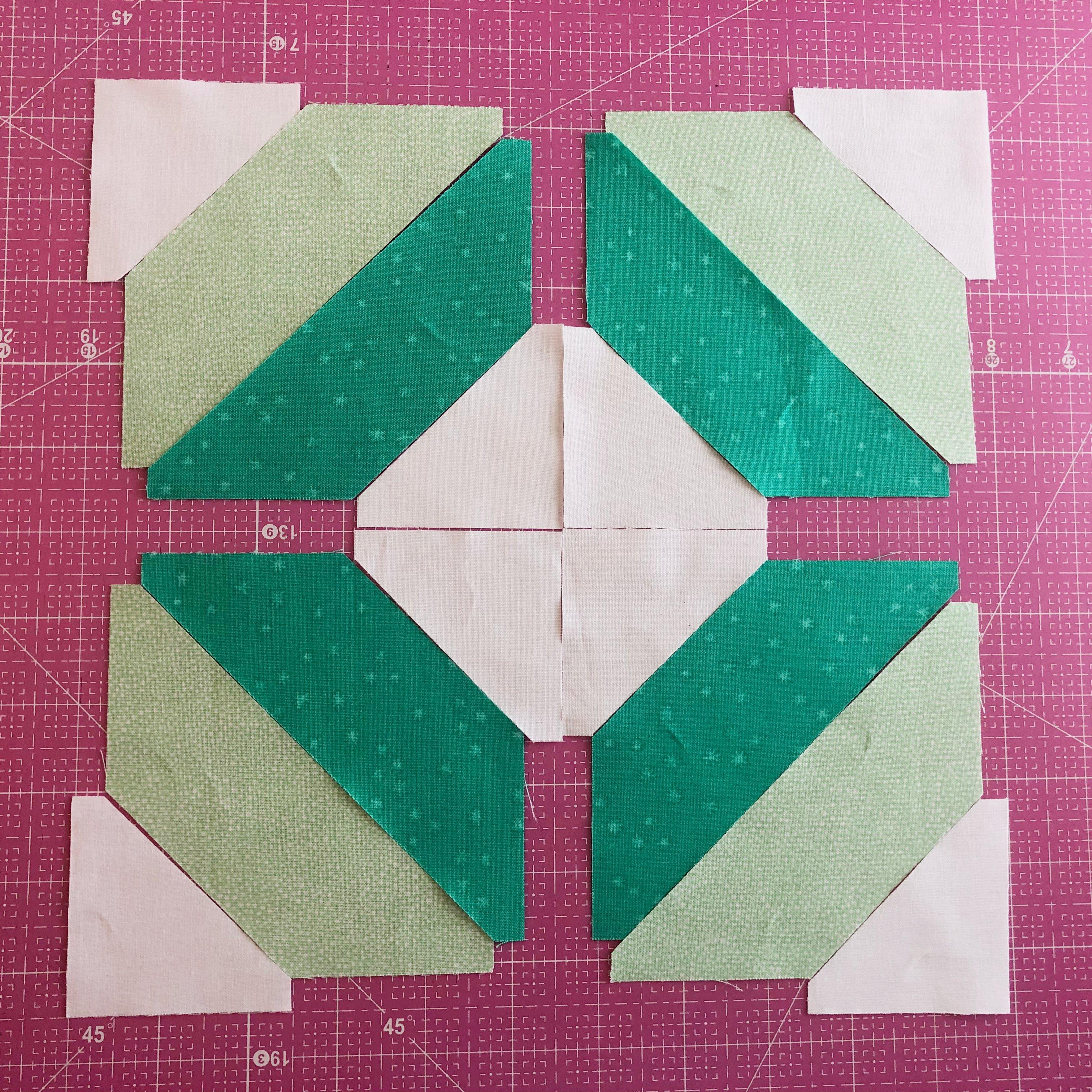 String Quilt Block Step 1
