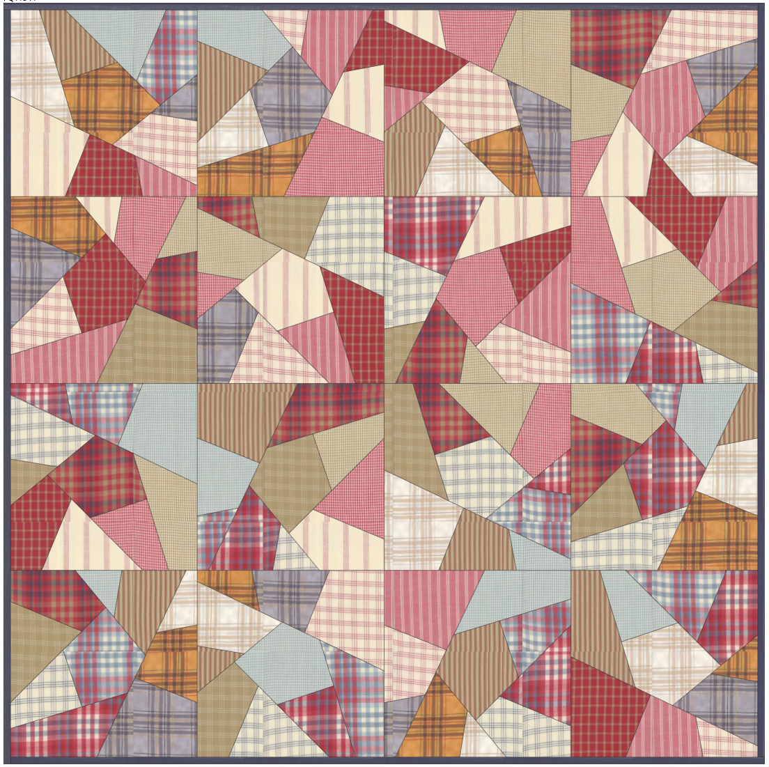 Sweater Weather Flannel Crazy Quilt-Moda Fabrics