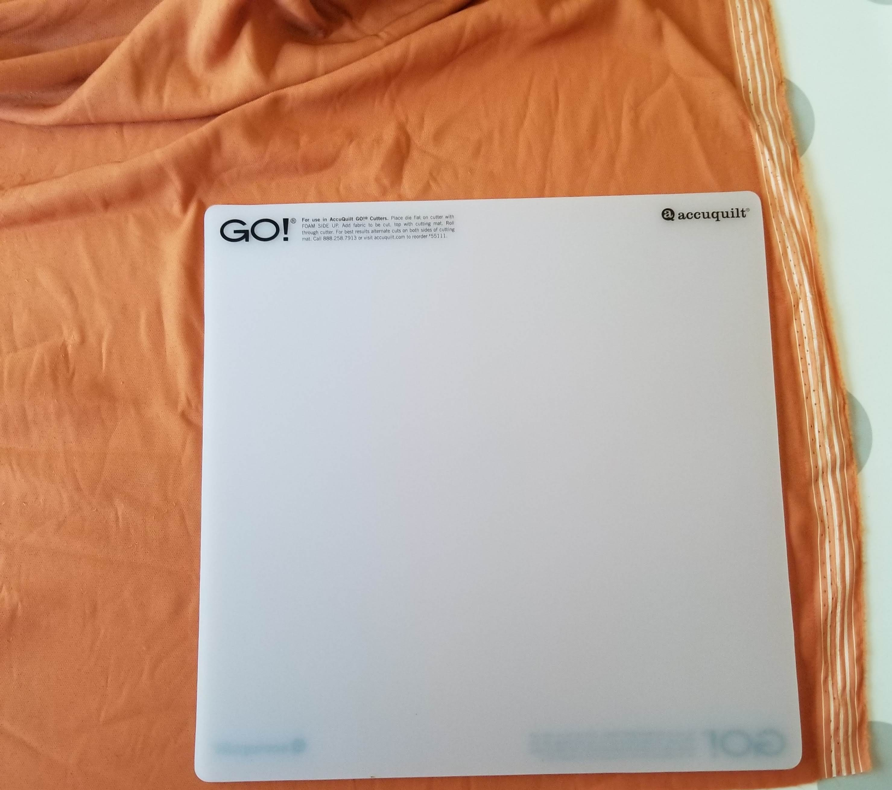 accuquilt go die cutting mat on felt