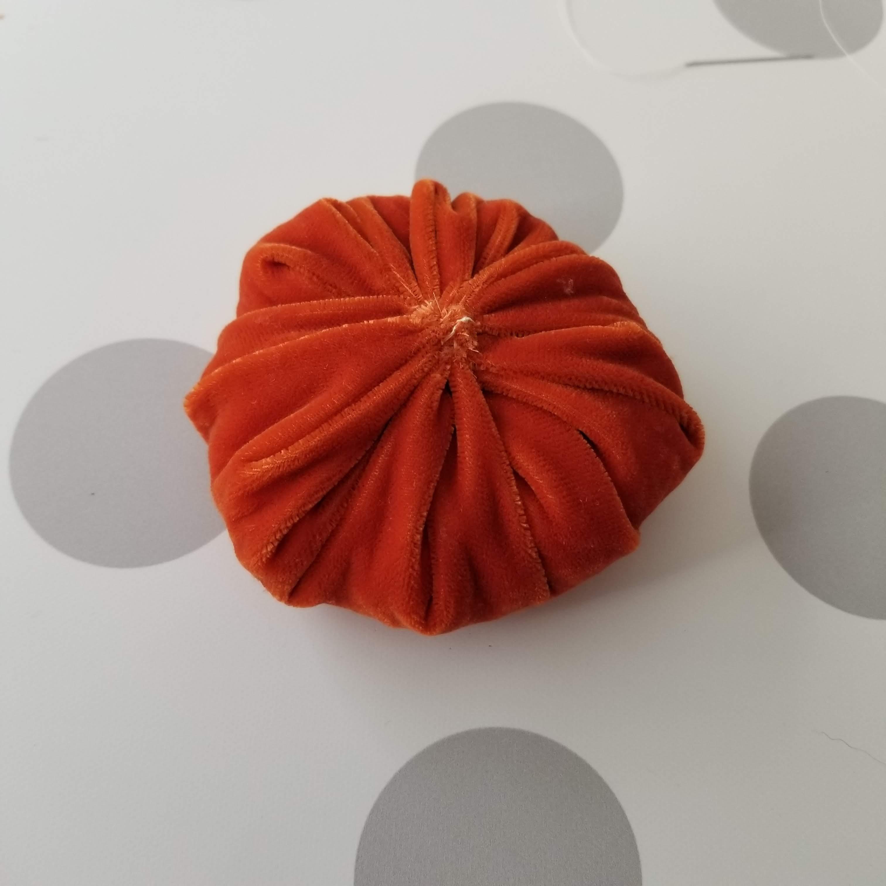 circle pumpkin handmade home accents
