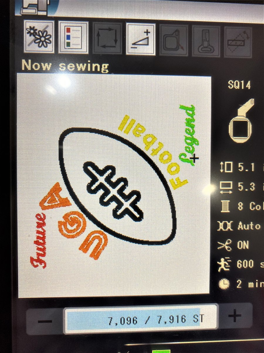 changing color for words on sewing machine-1