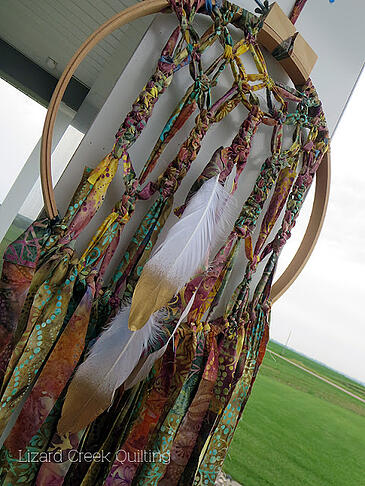 fabric scrap dream catcher