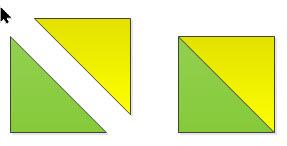 digital image of greenery half triangle square construction