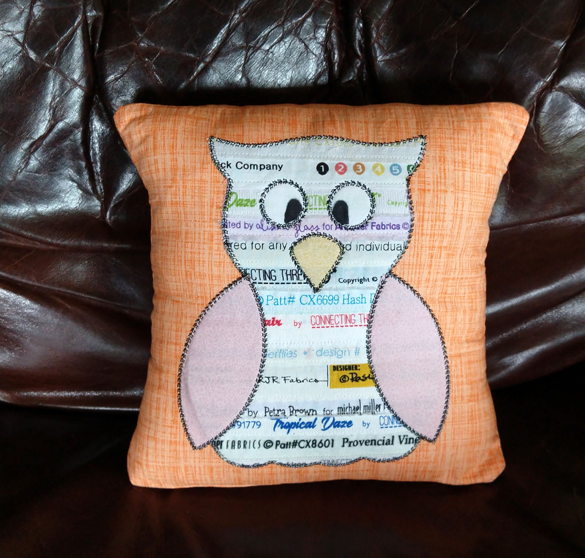 owl studio embroidered pillow28