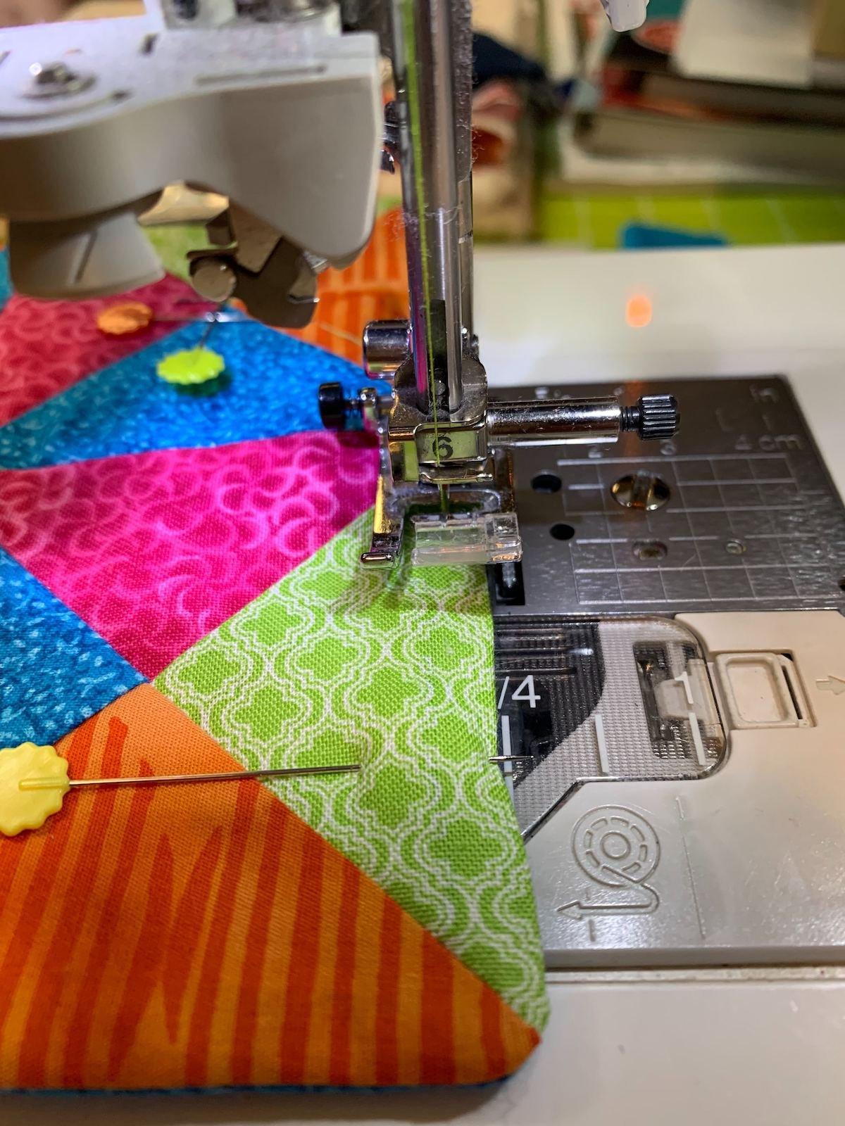 pinning mug rug sewing edge