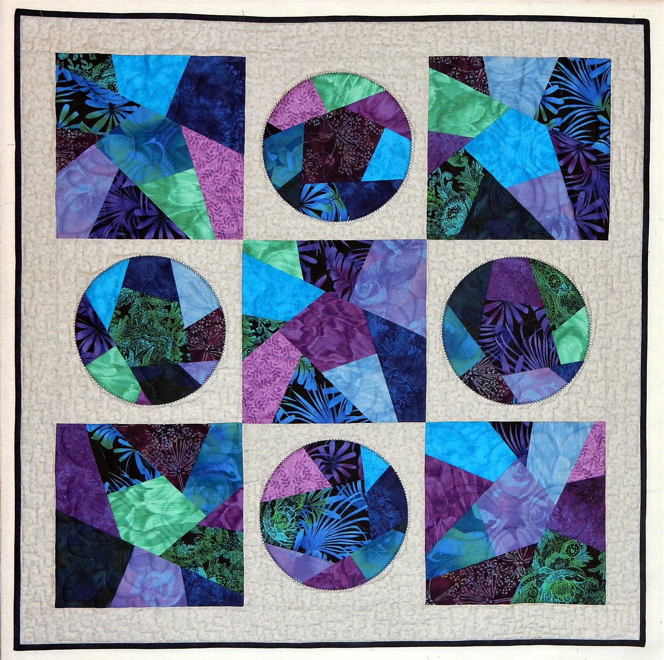 GO big crazy quilt die quilt pattern