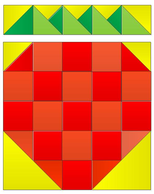 square strawberry