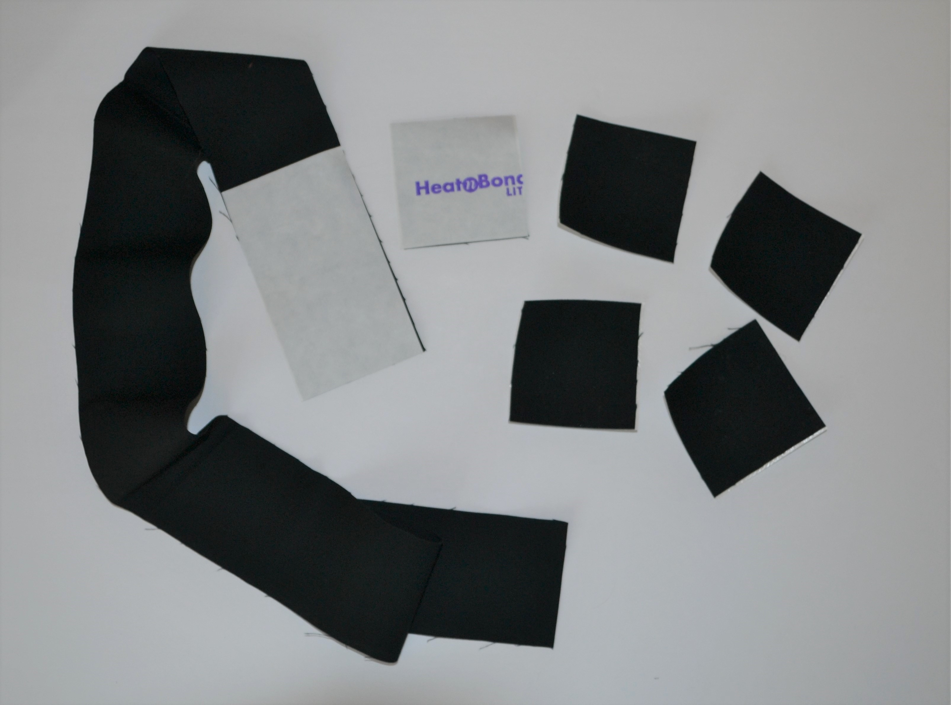 heat n bond black applique fabric