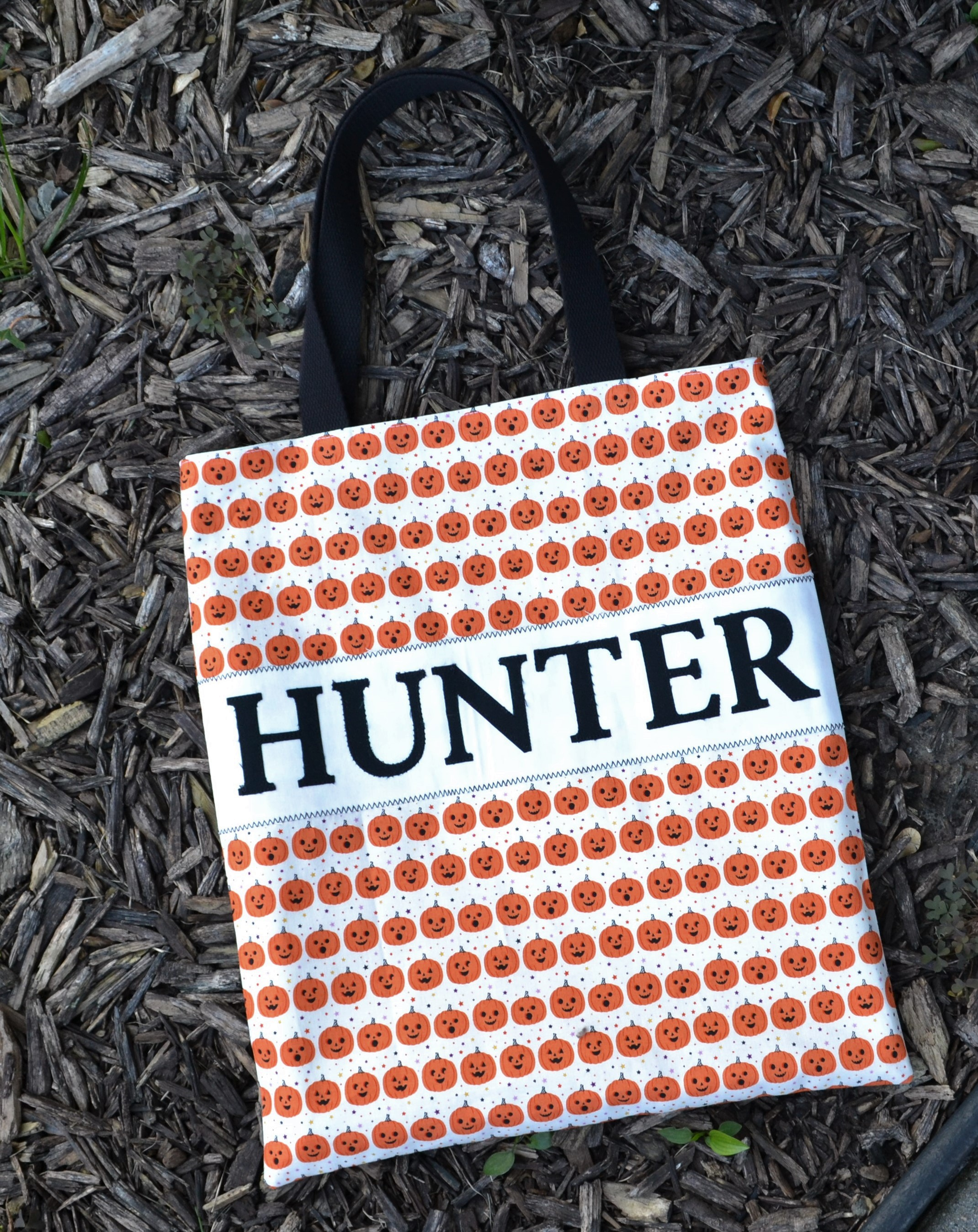 personalized halloween bag mulch