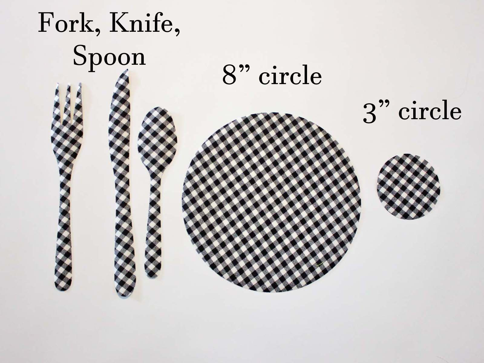buffalo check go fork knife spoon circles measurements