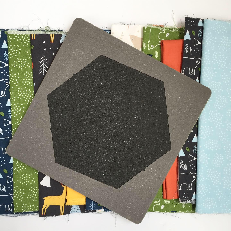 AccuQuilt Hexagon Die riley blake fabric