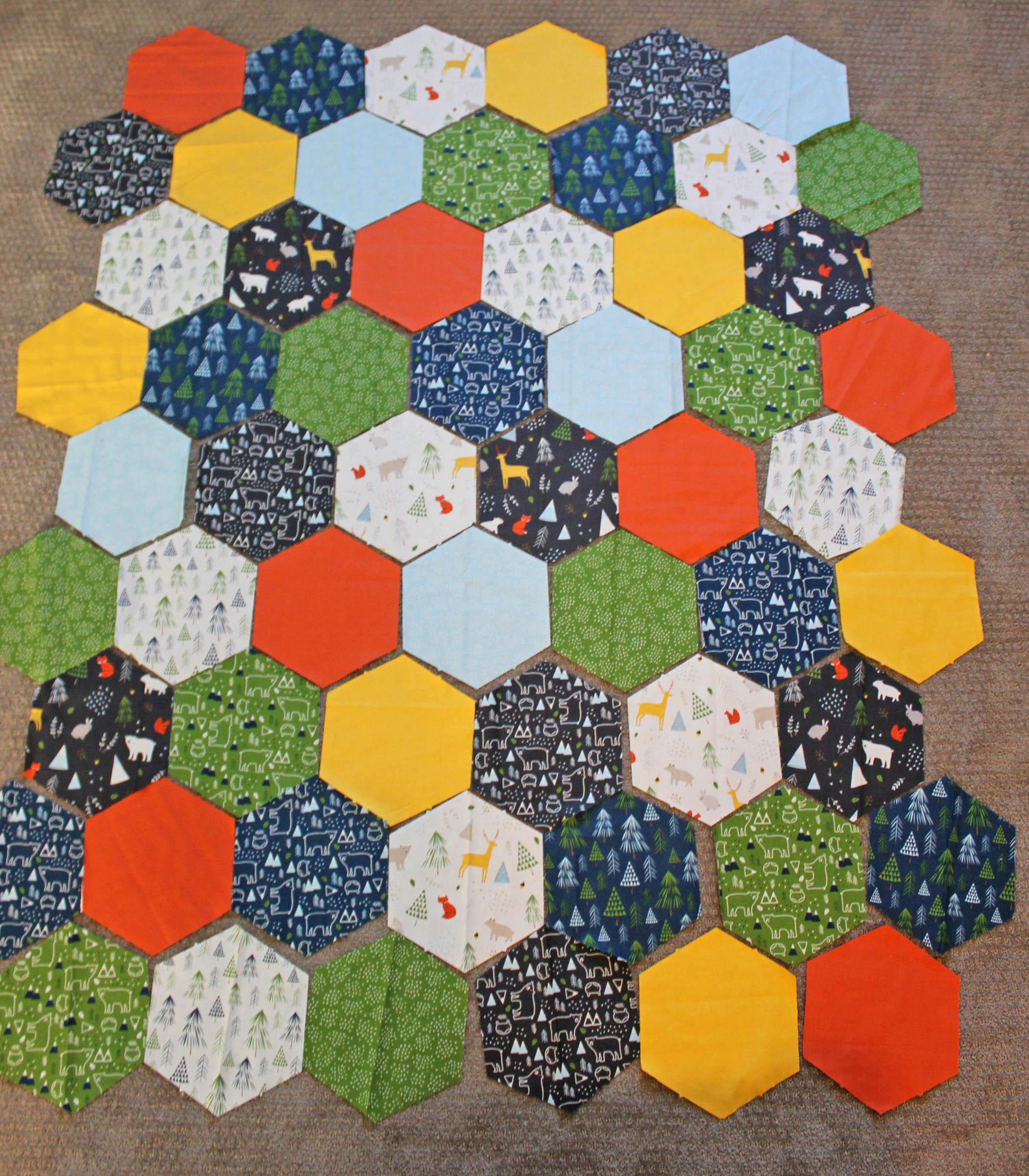 hexagon y seam layout