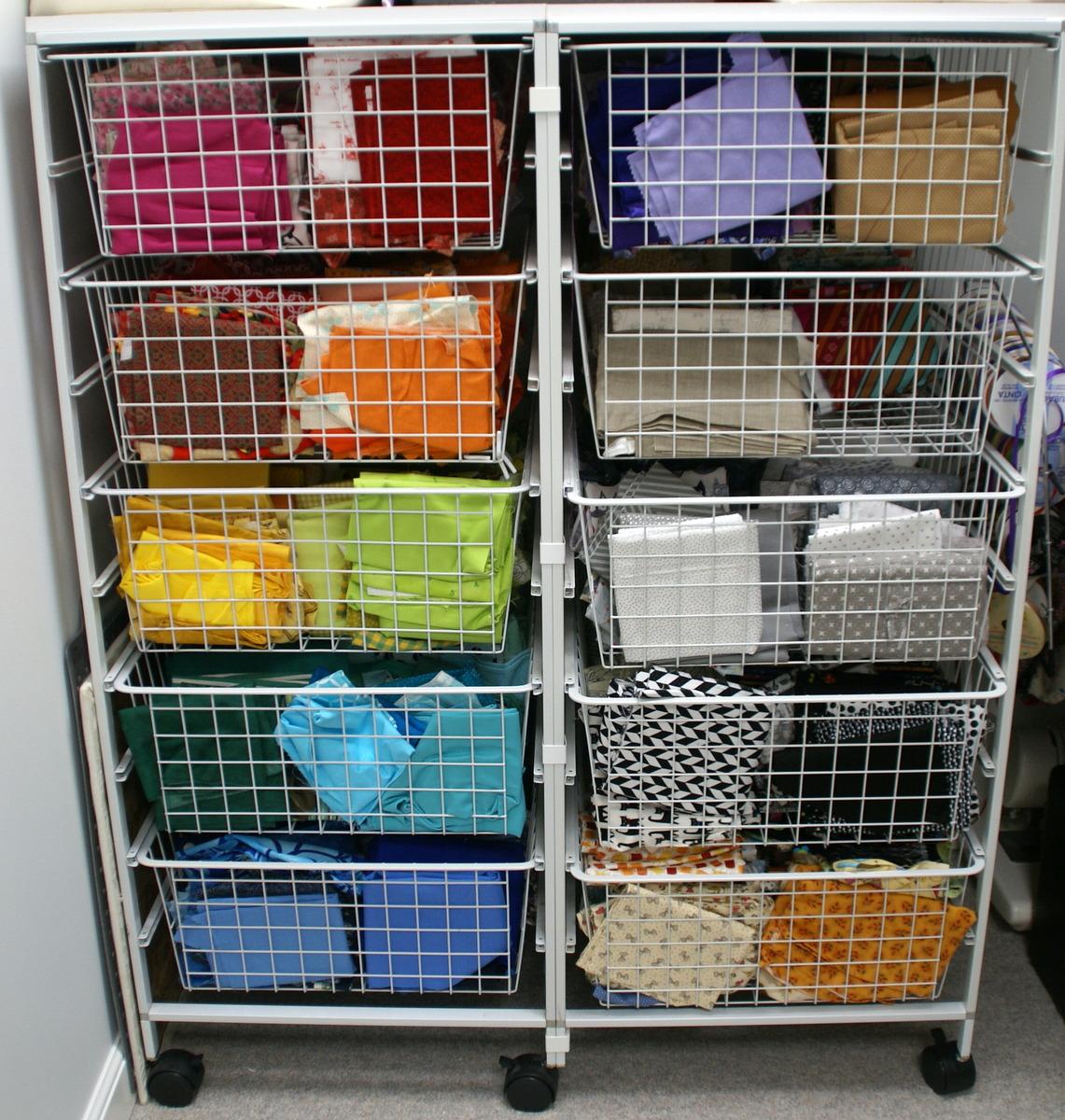 wire drawer fabric storage organizer