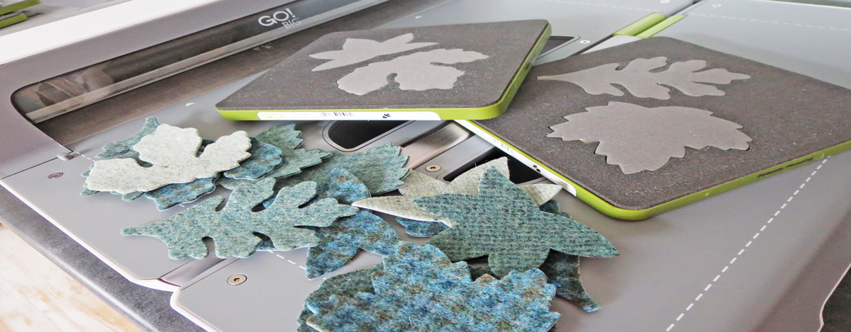 go big wool leaves applique shapes