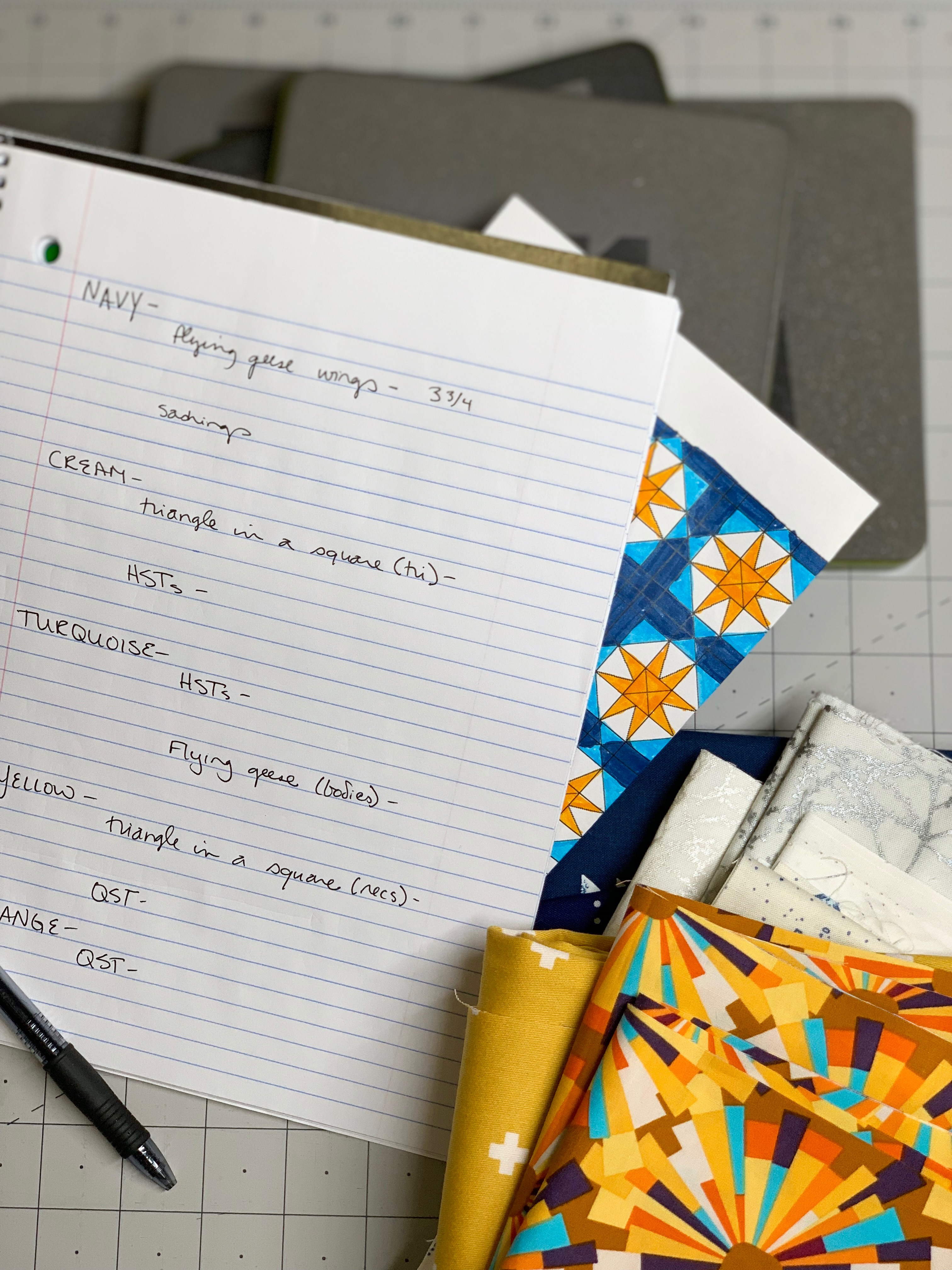 notebook quilting notes accuquilt dies
