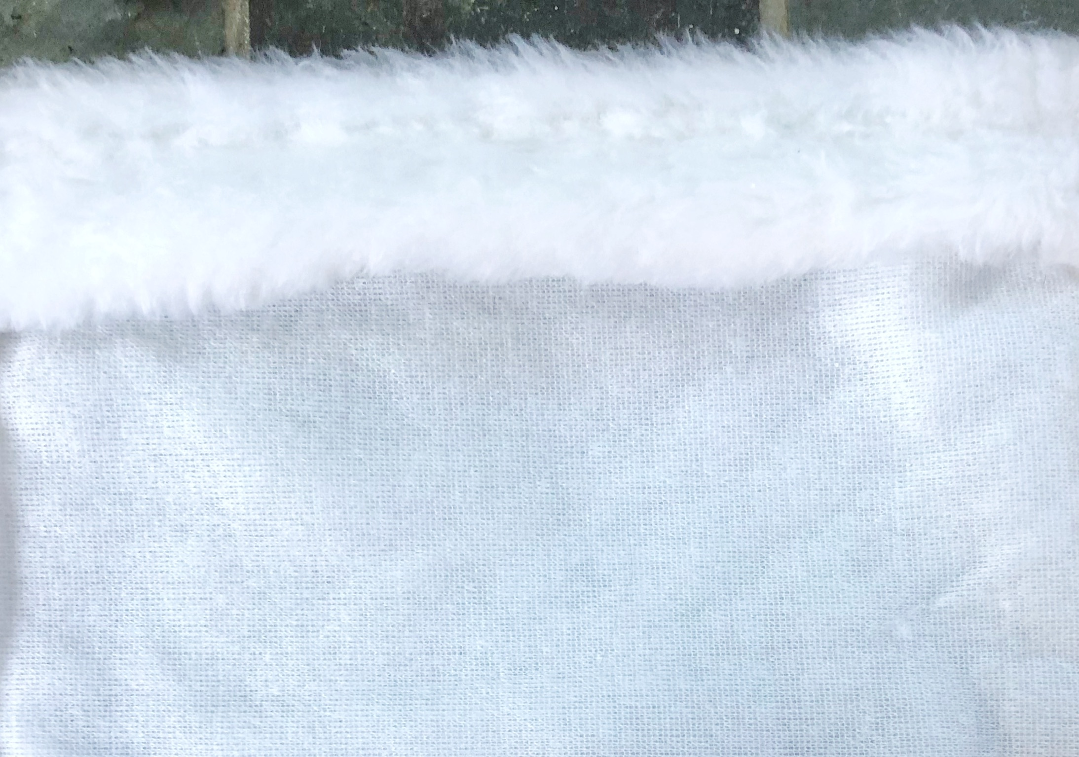 white fur stocking topper