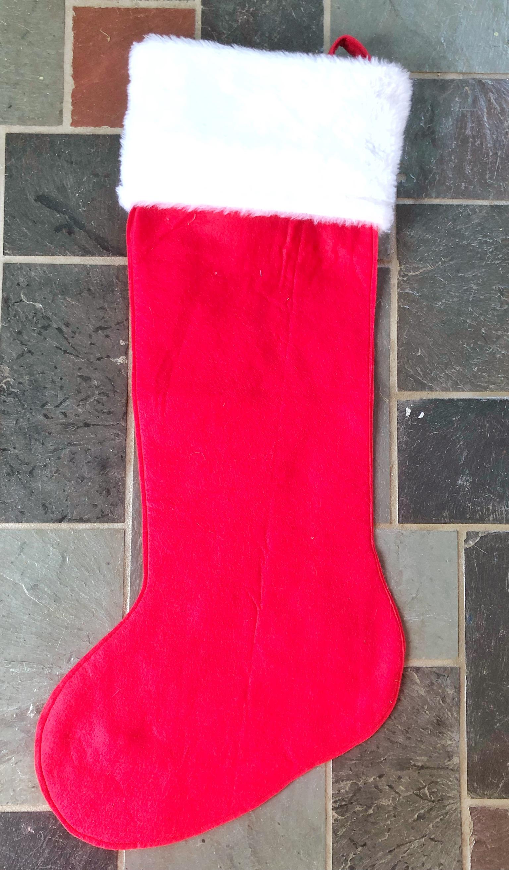 finishing handmade stocking