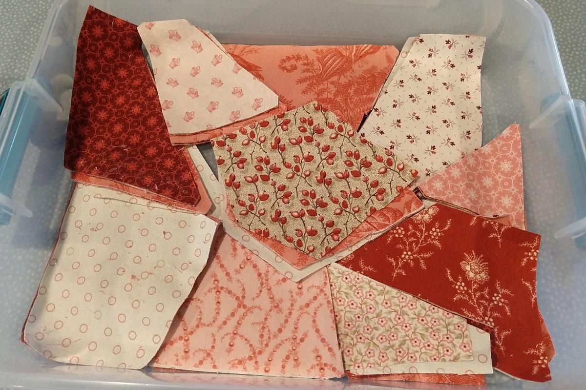 andover fabric cut into go big crazy quilt pieces