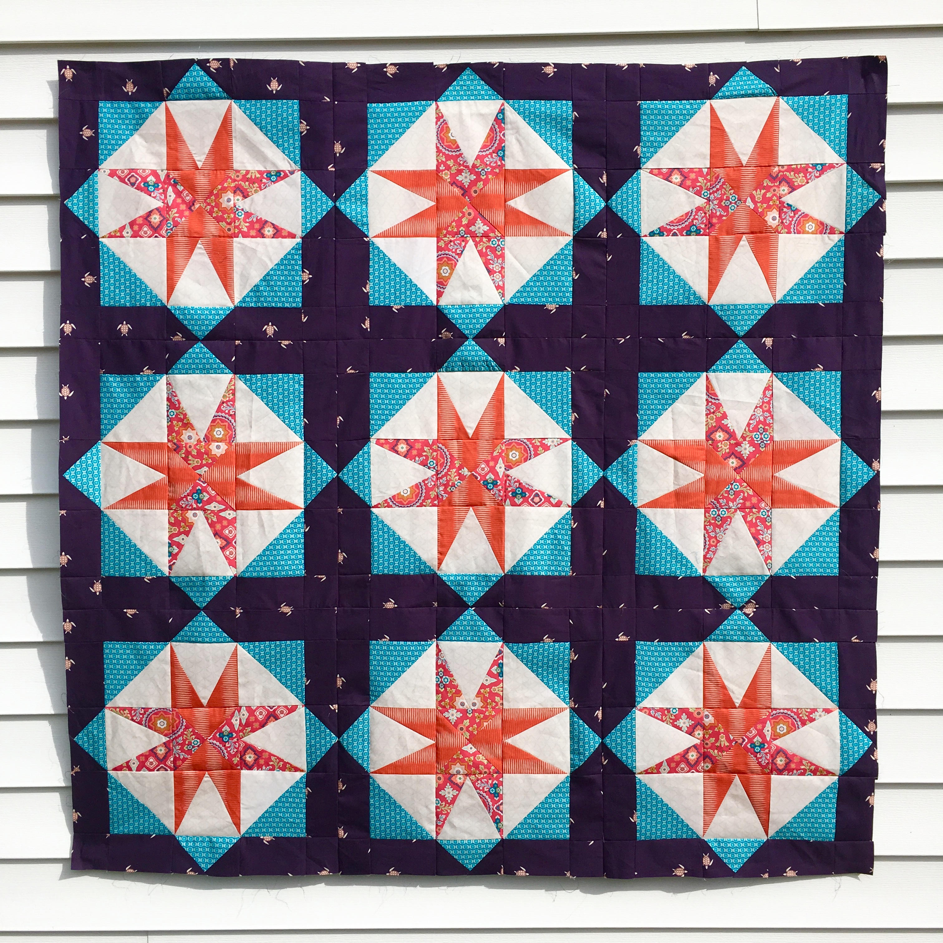 star island pieced quilt top