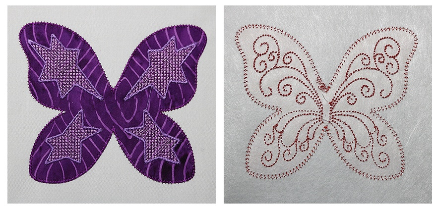 Trapunto Quilt with Embroidery 2