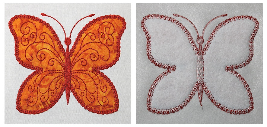 Trapunto Quilt with Embroidery 1