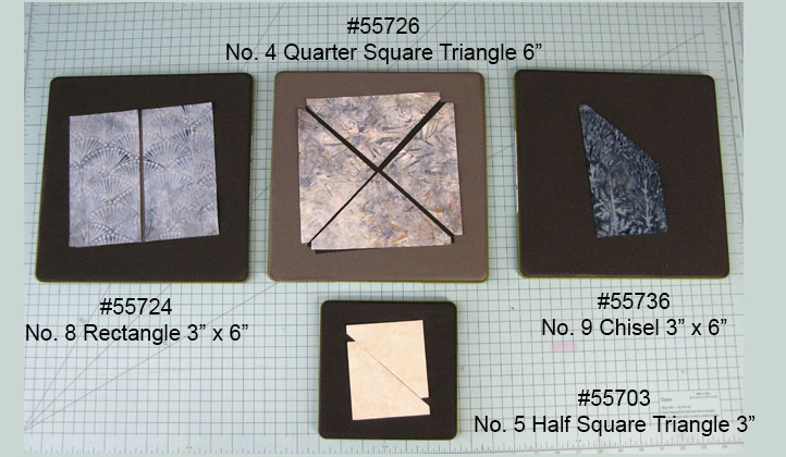 AccuQuilt Dies used in the table runner