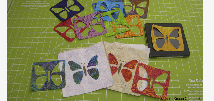 Leftover die cuts for another quilt project