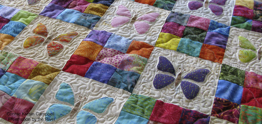 Scrappy Butterfly Baby Quilt quilt pattern for beginners