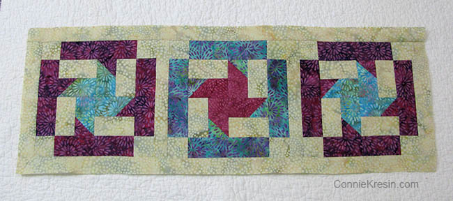 AccuQuilt GO! Coastal Mist Table Runner Tutorial