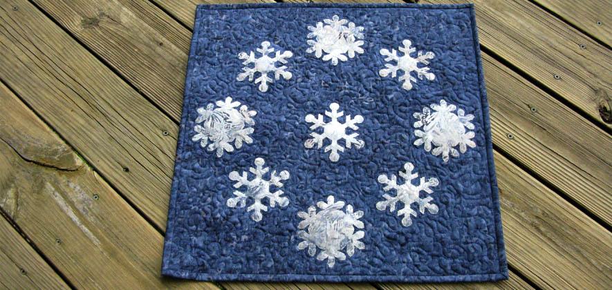 Snowflake Blues Table Topper