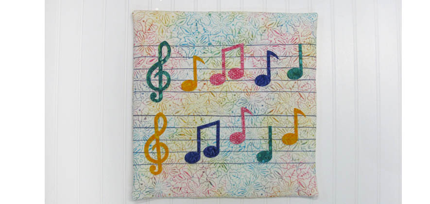 AccuQuilt GO! Musical Notes Pillow