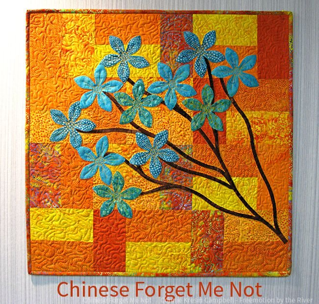 Chinese Forget Me Not Wall Hanging