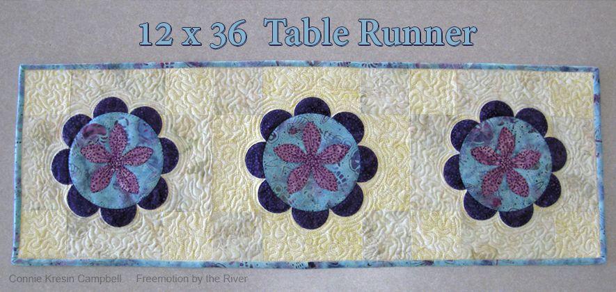 12 x 36 Summer Flower Table Runner
