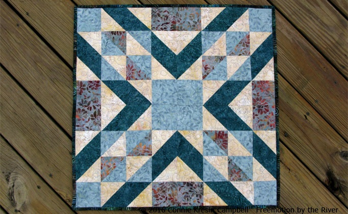 Crystal table topper free pattern using AccuQuilt GO! dies