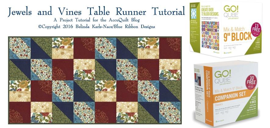Jewels and Vines Table Runner ©Copyright 2016 Belinda Karls-Nace/Blue Ribbon Designs, LLC
