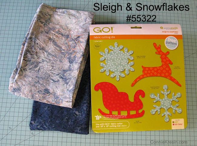 Sleigh & Snowflakes AccuQuilt GO! die
