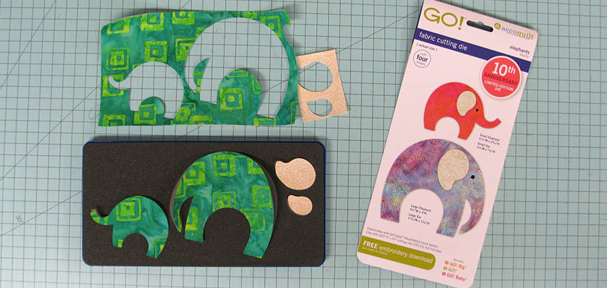 Cutting out the elephant pieces