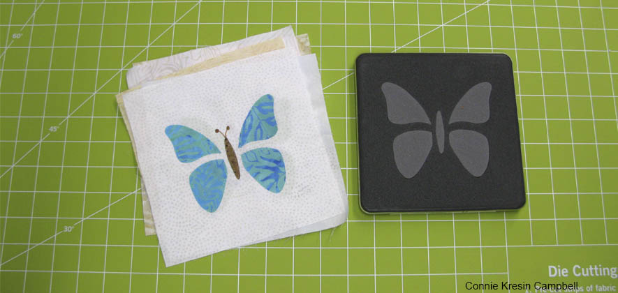 Butterfly die used for baby quilt
