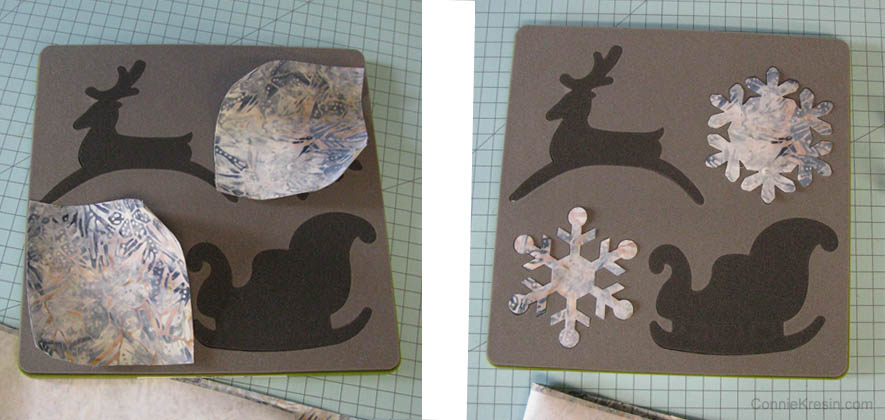 Cut the Snowflakes for the table topper
