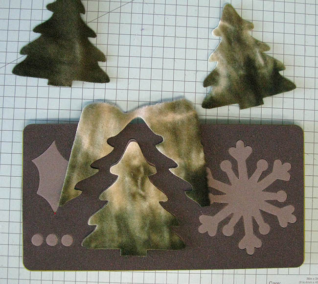 Evergreen wool trees made with AccuQuilt GO! die
