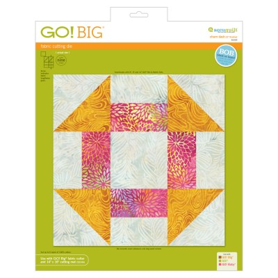 AccuQuilt GO! Churn Dash 12 inch die for Churn Dash Medallion Table Topper
