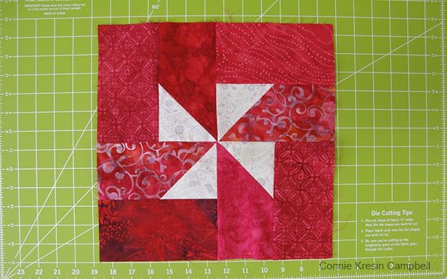 free quilt pattern for Christmas Pinwheels blocks