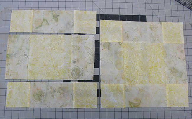 Piece the blocks for the table runner
