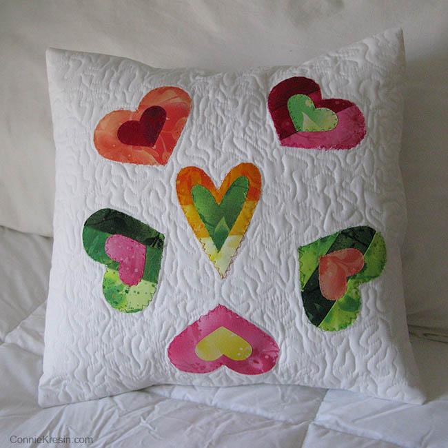 AccuQuilt Queen of Hearts Pillow