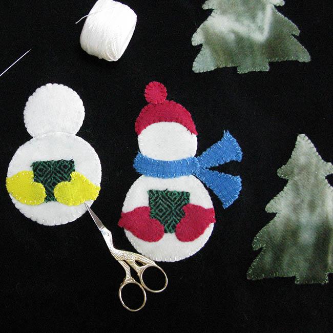 Building the Caroling Snowmen