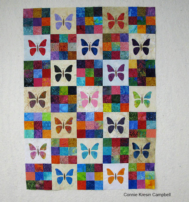 Sew the blocks together in rows